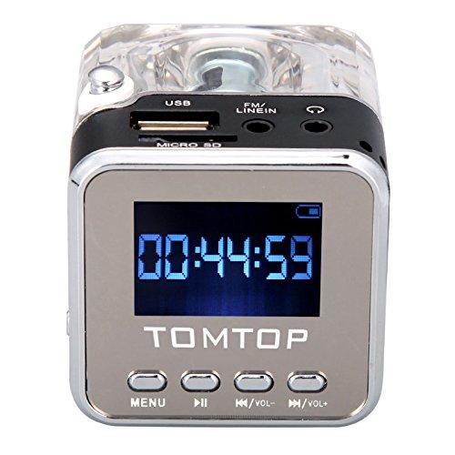 Andoer Mini-Digital-beweglicher Musik-MP3/4 Player TF USB Disk Lautsprecher FM Radio-Schwarz - Fm Radio Usb