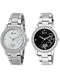 Cavalli Analogue Black&White Dial Women'S And Girl'S Love Watch-Combo Of 2 Exclusive Love Watches-CW890