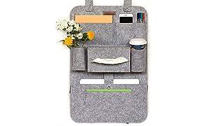Asiento trasero Organizador Auto asiento bolso organizador con Multi Fieltro 62x 41cm Lucky Sign® (gris claro)