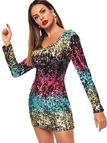 SOLY HUX Vestidos Fiesta Mujer Lentejuelas Moda Faldas