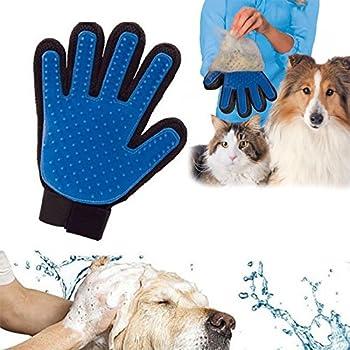 Gant de toilettage pour animaux de compagnie, Paquet de 2 outils de déhoussage de poils d'animaux de compagnie, chat Gant de brossage d'épilation Gants d'animal de compagnie Brosse de massage
