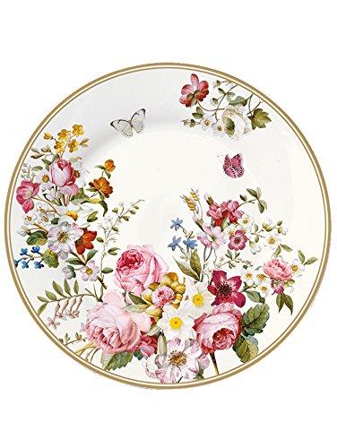 esign Dessert Teller Blooming Opulence creme Fine Bone China 19 cm (1 Stueck) ()