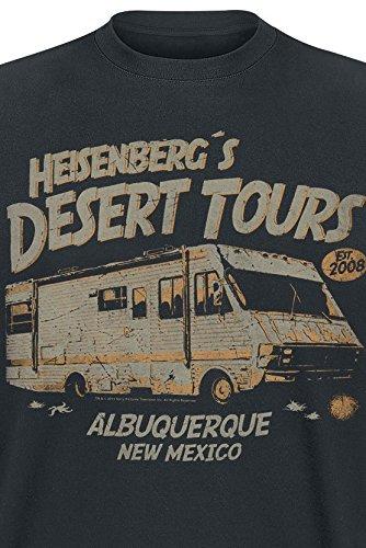 Breaking Bad Heisenberg Desert Tours T-Shirt Schwarz Schwarz