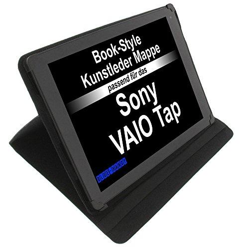 Tasche für Sony Vaio Tap 11 Book Style Schutz Hülle Buch schwarz