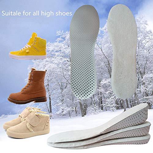 YUANID Super Gemütliche Wollfilz Höhe Erhöhen Einlegesohle Winter Schaffell Warme Palmilha Für Männer Frauen Schuheinlagen Pads Beheizte Einlegesohle -