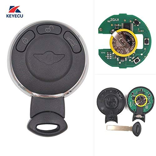 Price comparison product image Keyecu Smart Remote Key Fob CAS System 3 Button 868Mhz ID46 for Mini Cooper 2007-2014