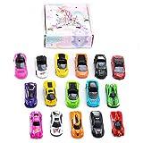Joeyer Spielzeug Modellautos Set,16 Pack Metall Rennauto Spielset Mini Spielzeugauto Geschenkset