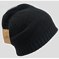 sheng Chapeau hommes hiver coréen épais chapeau chaud mode froide sauvage tricot bonnet noir