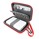 "Khanka Portable Etui de voyage Housse pour Polaroid ZIP Mobile Printer. Mesh Pocket pour Polaroid Papier photo ZINK Premium 2""x3"" - Rouge"