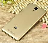 PREVOA ® 丨 Xiaomi Redmi NOTE 2 Funda - Original Batería Funda Reemplazo Cover Case Protictive Carcasa para Xiaomi Redmi NOTE 2 Smartphone 5,5 Pulgadas - (Oro)