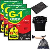 G 1® Oxo Biodegradable Garbage Bags for Home Kitchen | 19 X 21 Inch Medium Size | Black Color | 90 Pieces (Pack of 3) | 30 Pcs in Each Pack | Disposable Pantry Dustbin Covers