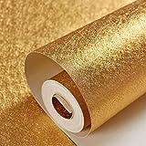 Haodan electronics Tapeten Wallpaper Bar KTV TV Hintergrund Wand PVC Tapete Goldfolie Material Decke Decke Gold Gelb Decke Solid Color Lattice (Color : B, Größe : 1000 * 53cm)
