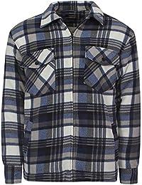 Sherpa Fleece Lined Check Collared Lumberjack Jacket