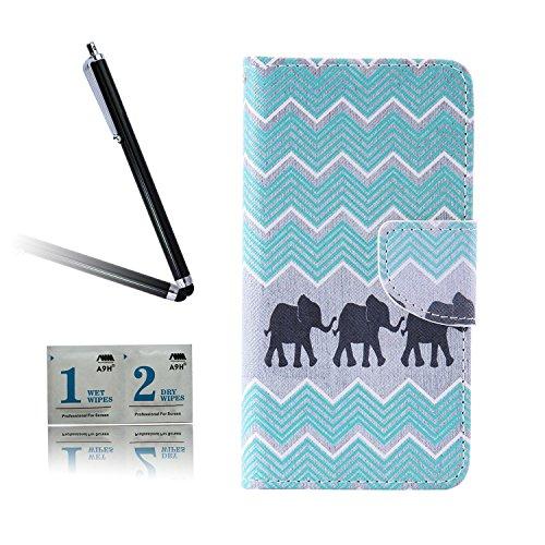 ARTLU® BQ Aquarius M5.0 Taschen Schalen PU Leder Tasche Schutzhülle Hülle Handy Etui Schale mit Ständerfunktion und Kreditkartenfächer für BQ Aquaris M5 (5.0 inches)A05