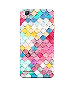 Sketchfab Colorful Triangle Shape Latest Design High Quality Printed Designer Back Case Cover For Oppo F1
