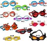 alles-meine.de GmbH 3-D Effekt _ Schwimmbrille -  Vogel Tweety  - incl. Name - Kinder von 2 bis 12 Jahre - wasserdicht & Anti Beschlag / verstellbar - Taucherbrille - Mädchen &..
