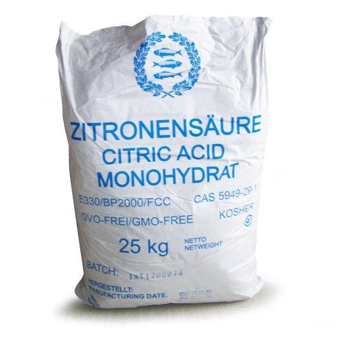 Zitronensäure monohydrat E-330, Lebensmittelqualität 25 kg Sack Großgebinde