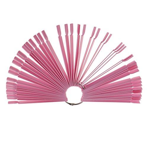B Baosity 50 PCS Faux Ongles Art Conseils Affichage Pratique Carte Stand Outil Manucure Pédicure - Rose, comme décrit