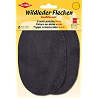 Kleiber Large Suede Sew on Trouser/Arm Patches-Grey, 18 x 13 cm