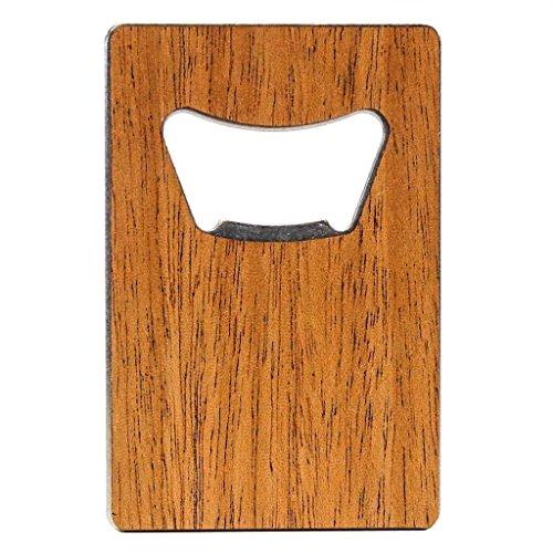 Woodchuck USA Holz Kreditkarte Flaschenöffner-Zeder, Mahagoni, Walnuss-100% Premium-Holz mahagoni (Mit Schlüsselanhänger Flaschenöffner Custom)