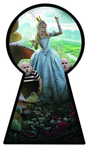 Alice in Wonderland 2Alice Through the Looking Glas voller Farbe Magic Fenster Schlüsselloch Bild Wandtattoo Wandbild Poster Größe 1000mm breit x 600mm tief (groß) V011 (Alice Schlüsselloch)