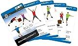 Stop! Fitness | Schnellkraft (Plyometrics) | Trainingskarten Übungskarten, deutsche Version, Kartengröße 66 x 100 mm mit Kunststoffbox - SAQ Serie