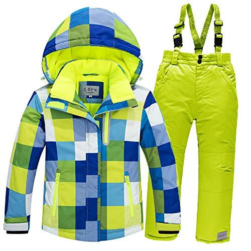 YFCH Kinder Skianzug Winter Skijacke Skihose Set Mädchen Jungen Schneeanzug Wasserdicht Winddicht Winter Skiset | 08671156067517