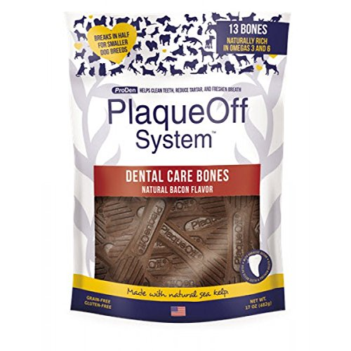 ProDen PlaqueOff Dental Care Bones Natural Bacon, 482 g