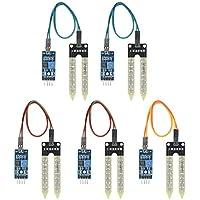 KKmoon Módulo de sensor de humedad 5 unids Humedad del Suelo Higrómetro Módulo Sensor de Detección de Humedad Sistema de Riego Automático para Arduino