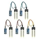KKmoon Hygrometer Boden Feuchtigkeit Sensor Detektor Modul 5 Set Bodenfeuchtesensor Für Arduino Raspberry Pi
