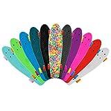 Kinder Mini-Skateboard 56 cm - Kunststoff - verschiedene Farbkombinationen