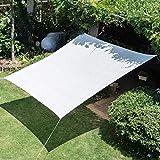 Sunscreen net Rete ombreggiante Bianca a 6 Pin, Rete Solare Spessa criptata, Rete Isolante per Auto nel Cortile, Rete per Piante da Balcone, Tasso di Copertura del Sole 90%