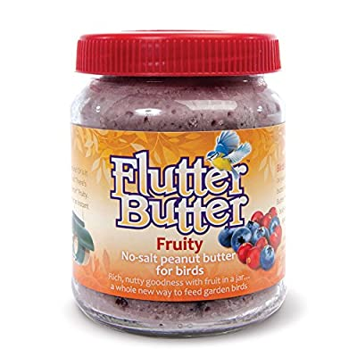 Flutter Butter No-Salt Flavoured Peanut Butter Jars For Wild Garden Birds, 330g by Happy Beaks by Happy Beaks