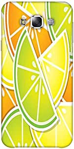 Snoogg Citrus Wedge Background Card In Vector Format Designer Protective Back...