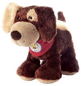 sigikid 37987  Fuffi Wuff- Perro de peluche color marrón oscuro Importado de Alemania