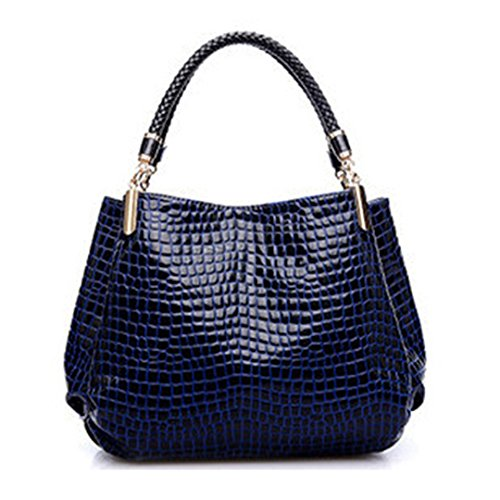 Designer Handtasche Damen Leder Handtaschen Alligator Umhängetaschen Handtasche Blau