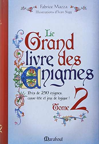GRAND LIVRE DES ENIGMES 2 par Fabrice Mazza
