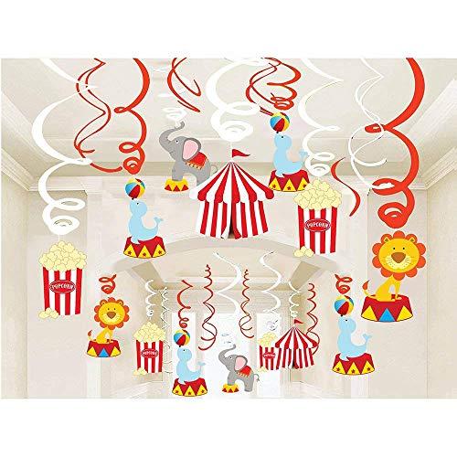dekoration -Der Karneval Themen- Geburtstag Deckenhänger Spiral Girlanden für Kinderparty Junge und Mädchen Dekoration ()