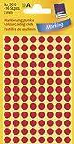 AVERY Zweckform Markierungspunkte, Durchmesser 8 mm, rot