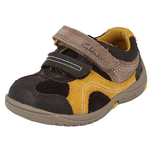 Clarks Kids Ru Rocks Fst, Chaussures Premiers Pas Mixte Bébé Brown Combi