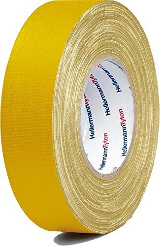HellermannTyton Gewebeklebeband HelaTape Tex Gelb (L x B) 50 m x 19 mm Kautschuk Inhalt: 1 Rolle(n)