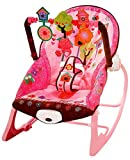 #5: Toyshine Infant to Toddler Rocker Chair with Calming Vibrations, Metal Frame, Pink