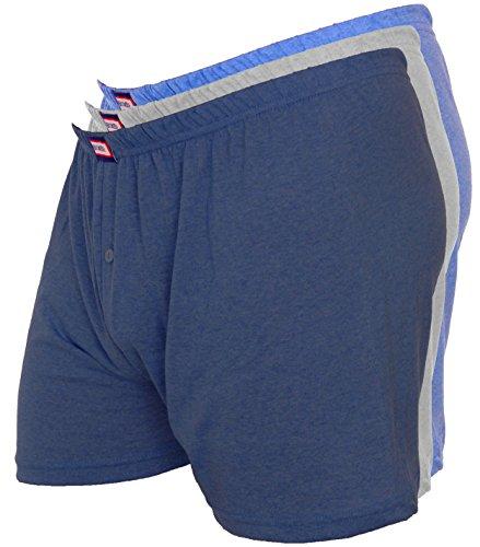 3er Pack Herren Boxer Shorts Nr. 281 (Auch in Übergröße) (Farben können variieren) Mehrfarbig