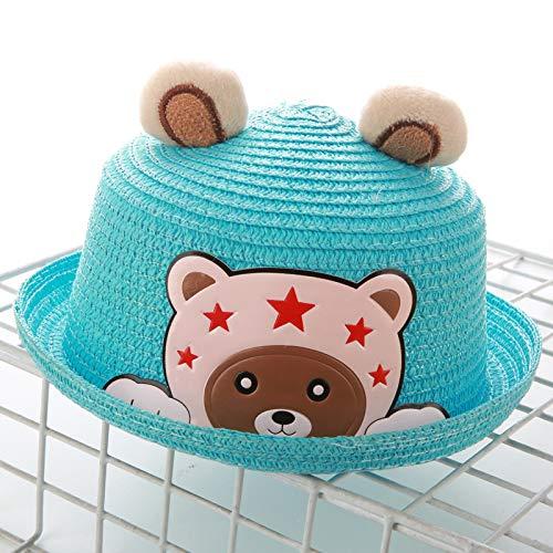 mlpnko Der Strohhutkarikatur-Tierhutbabymänner und -Frauen der neuen Kinder Becken-Kappenlederaufkleber tragen blaues (Tragen Jude Kostüm)