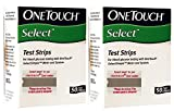 #7: OneTouch Select 100 Test Strips Box (2 Pack of 50 each)