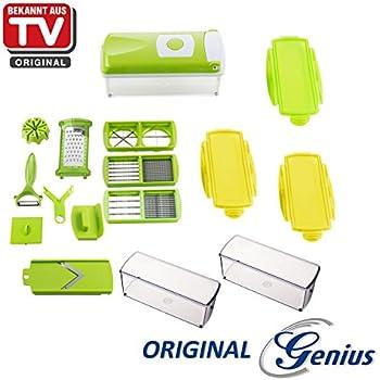 genius nicer dicer magic cube gr n 12 teile obst und gem seschneider k che. Black Bedroom Furniture Sets. Home Design Ideas