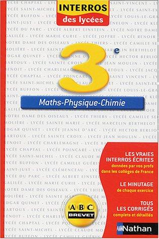 Maths-physique-chimie 3ème par P Sciamma, J Senellart, Jean-Claude Tribollet