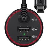 BC Master Mini Cargador de Coche con 4M Cable Micro USB 3 Puertos - Best Reviews Guide