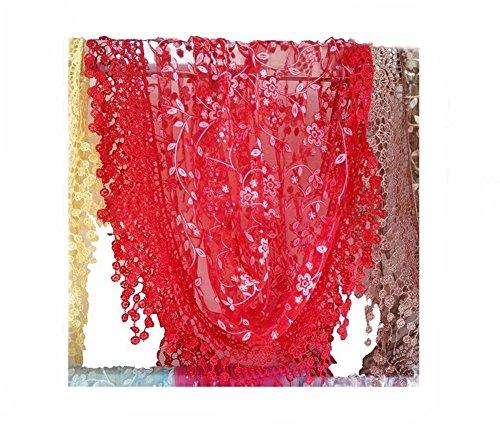 Stofirst Damen Elegant Spitze Tassel schiere Burnout Blumen Dreieck Schal Shawl Neck Wraps (Burnout-schal)