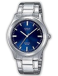 CASIO Quarz MTP-1200A-2AVEF - Reloj de caballero de cuarzo, correa de acero inoxidable color plata